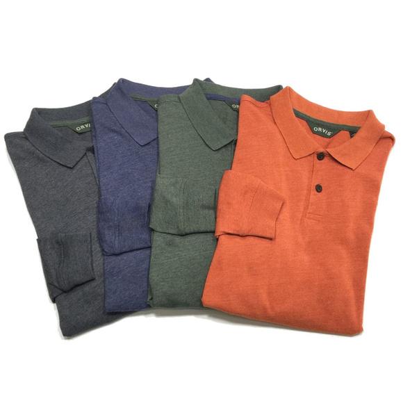 11d53e84cb5 Lot 4 Orvis Long Sleeve Polo Shirt. M_5beff9a9c89e1df365de9260